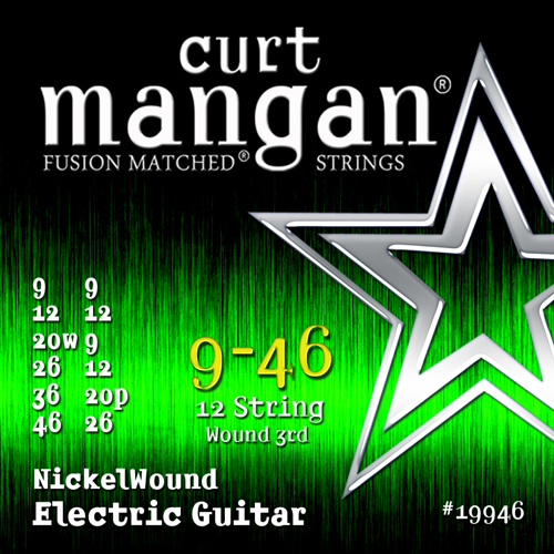 CurtMangan 19946NickelWound 12-strengetel-guitarstrenge009-046