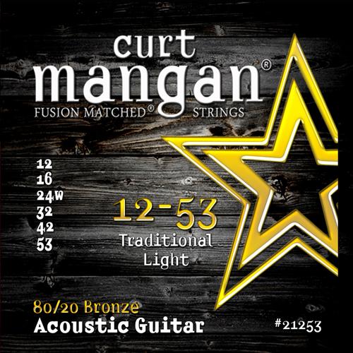 Image of   CurtMangan 2125380/20Bronze western-guitarstrenge012-053