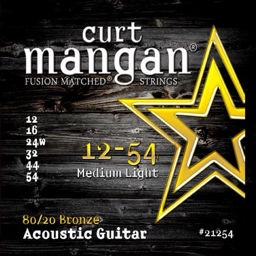 Image of   CurtMangan 2125480/20Bronze western-guitarstrenge012-054