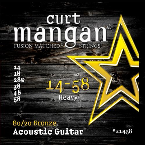 Image of   CurtMangan 2145880/20Bronze western-guitarstrenge014-058