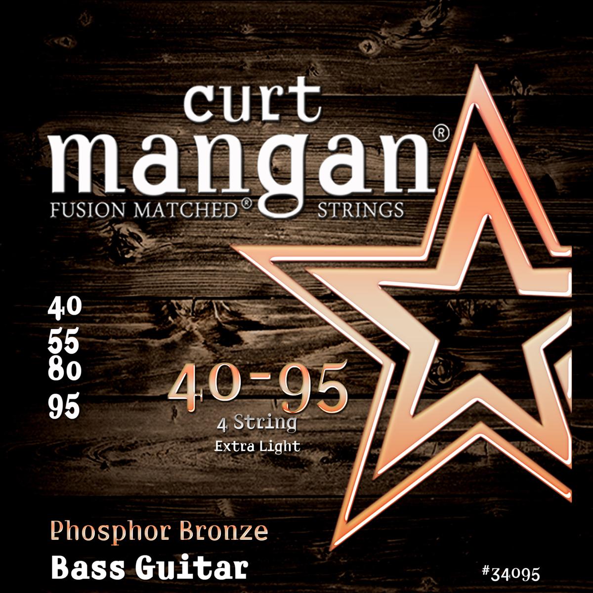 Billede af CurtMangan 34095PhosphorBronze akustisk-basstrenge040-095