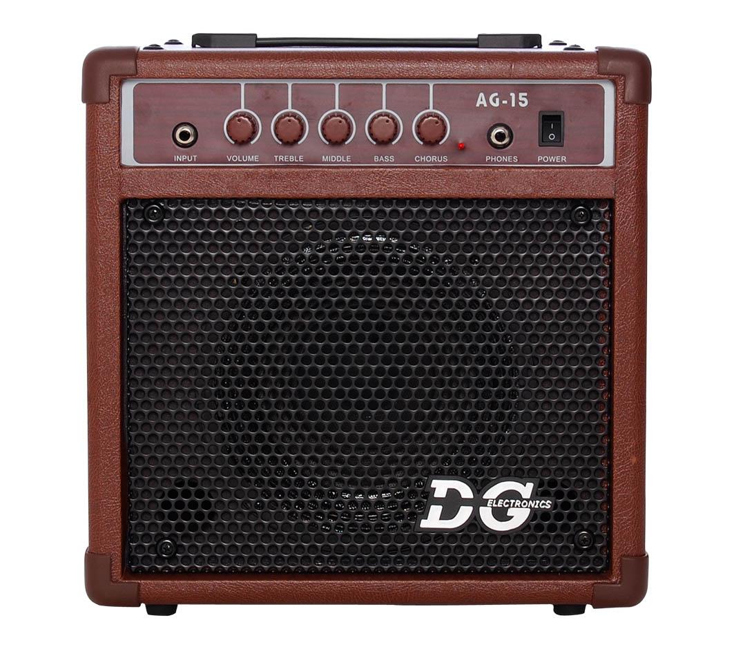 Billede af DGelectronics AG-15 akustiskguitarforstærker