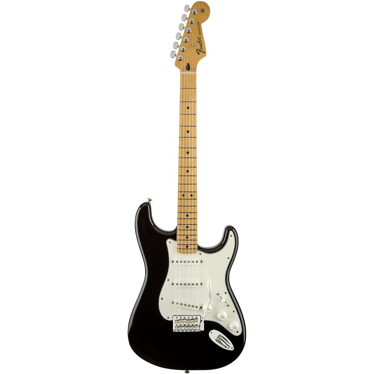 Image of   Fender StandardStratocaster,MN,BLK el-guitar sort