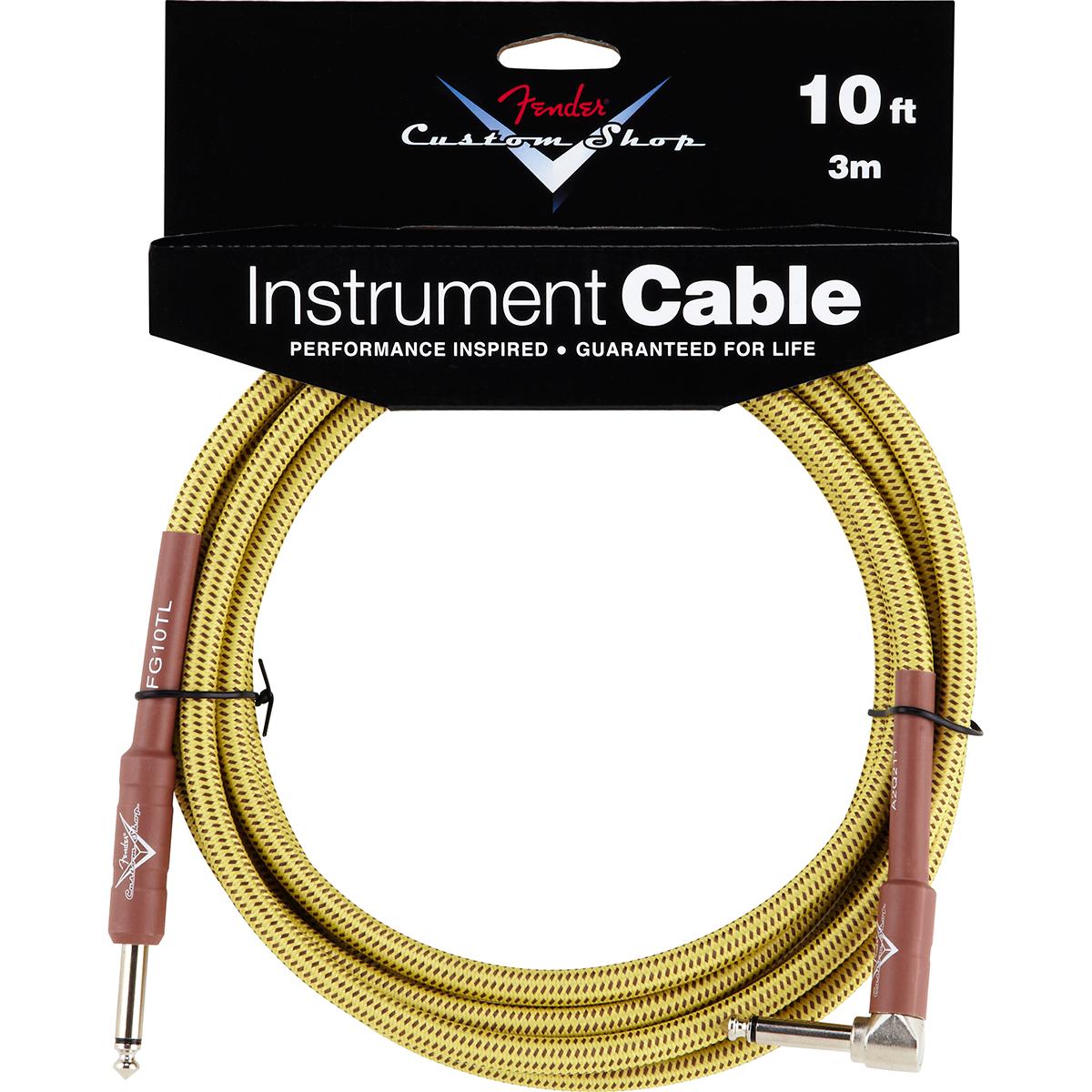 Billede af Fender CustomShop10ftangled jack-til-jack-kabel tweed 3meter
