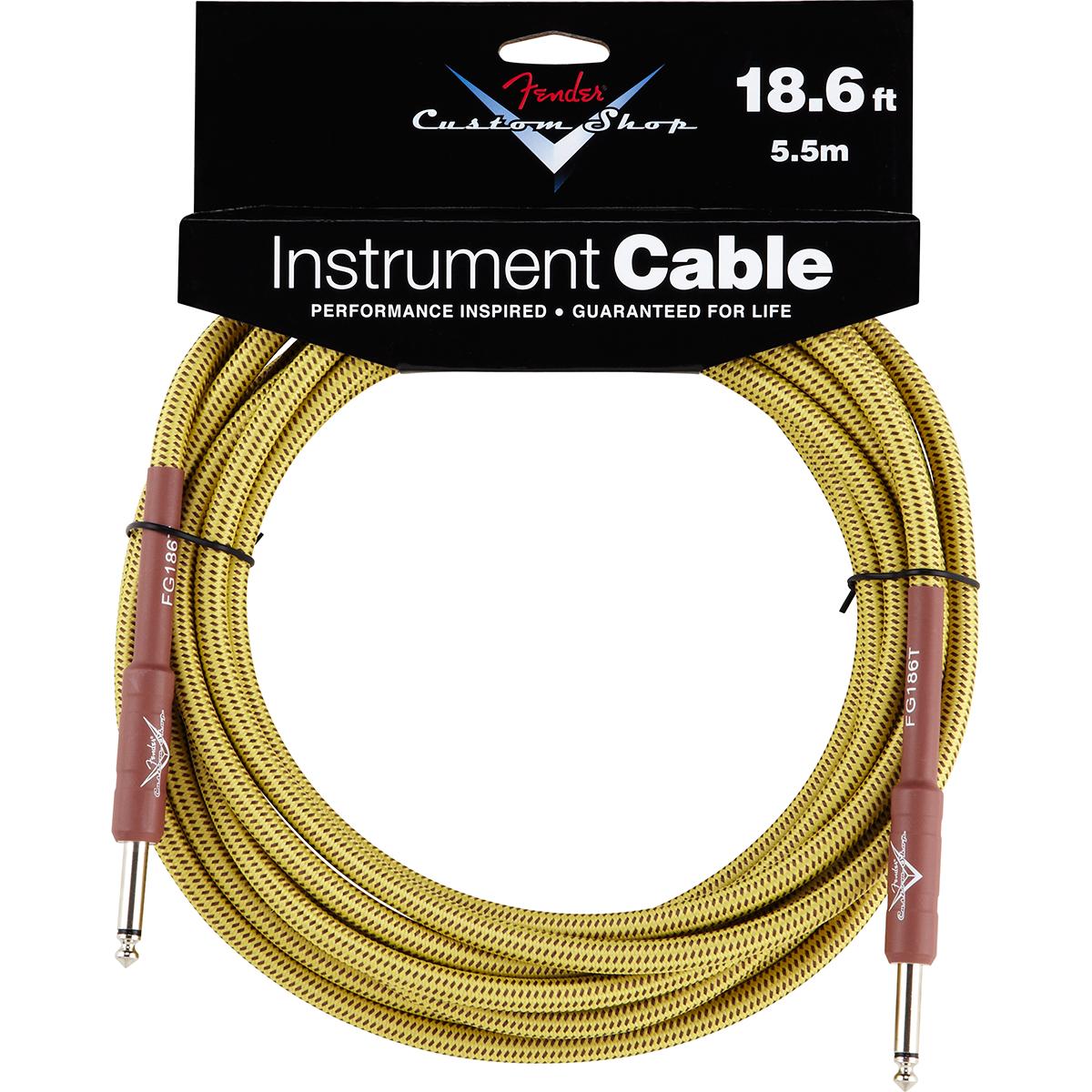 Billede af Fender CustomShop18.6ft jack-til-jack-kabel tweed 5,5meter