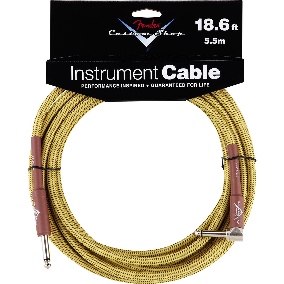 Billede af Fender CustomShop18.6ftangled jack-til-jack-kabel tweed 5,5meter