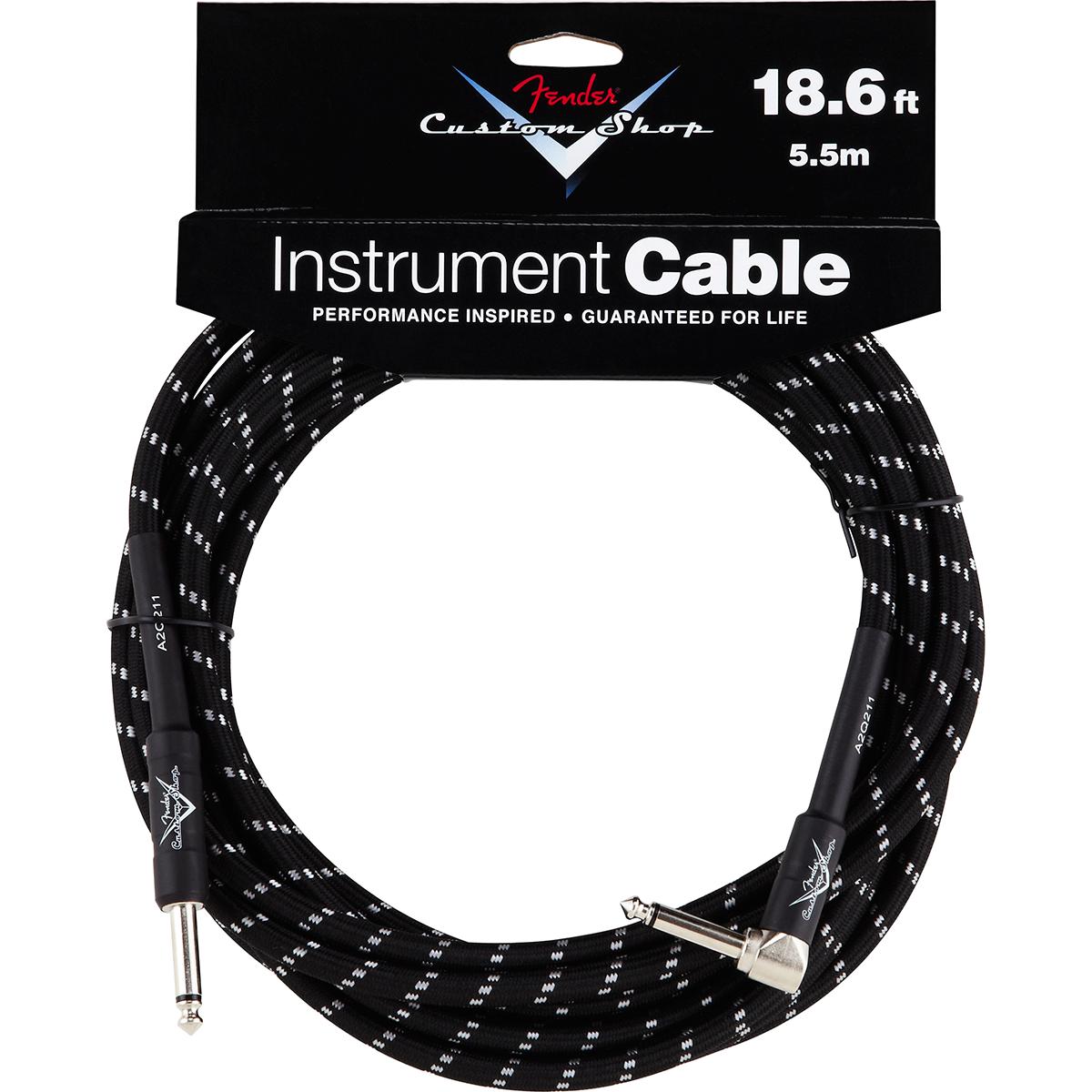 Billede af Fender CustomShop18.6ftangled jack-til-jack-kabel sort 5,5meter