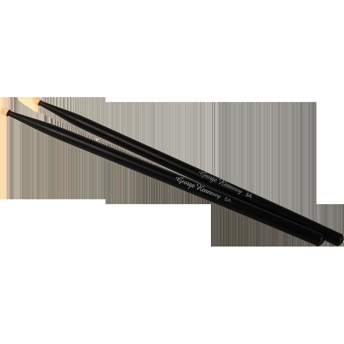 Billede af GeorgeHennesey BLACK-5A trommestikker(par) sort