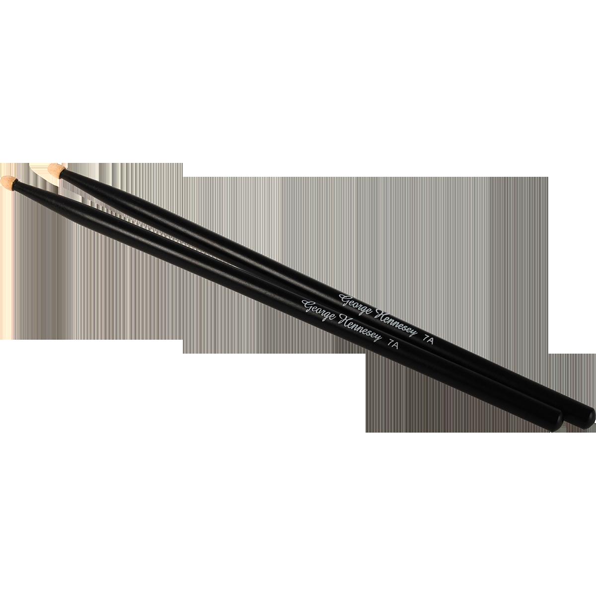 GeorgeHennesey BLACK-7A trommestikker(par) sort