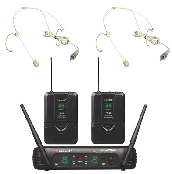 Billede af Karsect WR-25DPT25-HT3A trådløs2xtyndeheadset-mikrofon-sæt