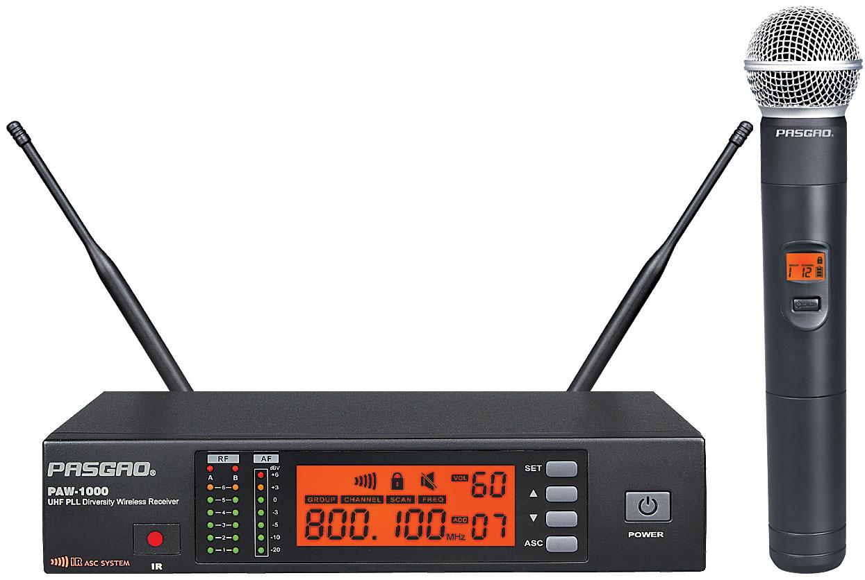 Billede af Pasgao PAW-1000-PAH-1200(584-607MHz) trådløstsæt
