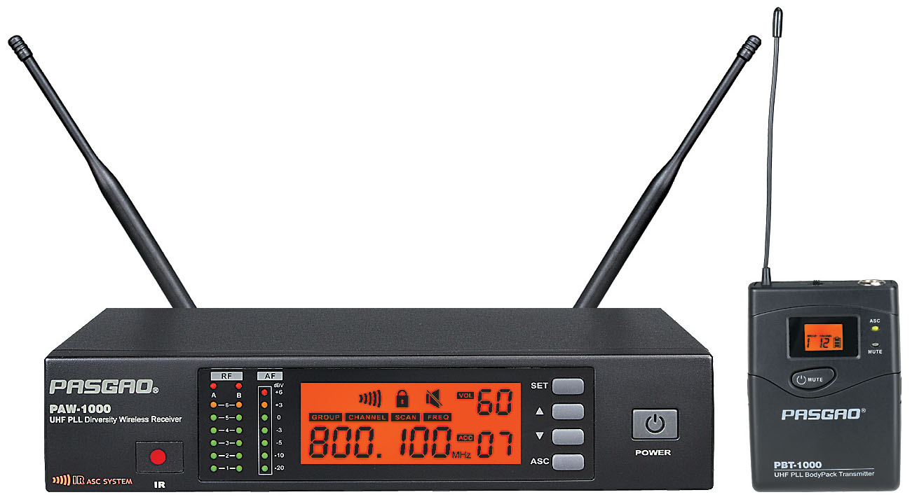 Billede af Pasgao PAW-1000-PBT-1000(584-607MHz) trådløstsæt