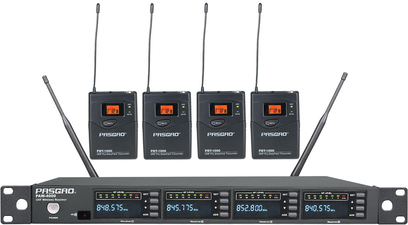 Pasgao PAW-4000-PBT-1000(584-607MHz) trådløstsæt