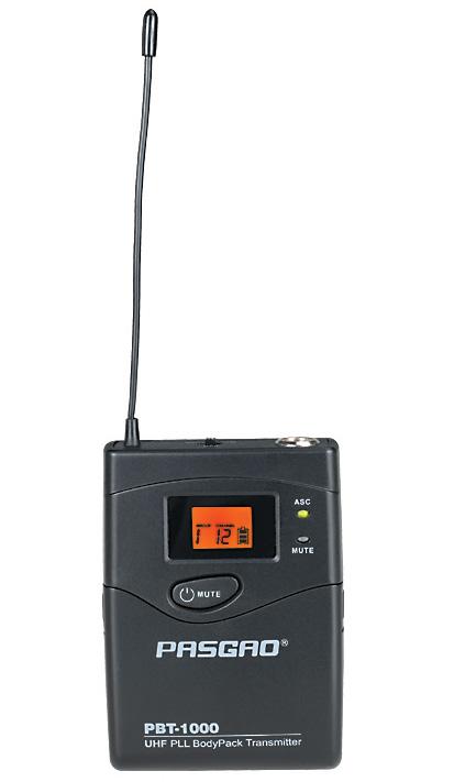 Pasgao PBT-1000(584-607MHz) trådløslommesender