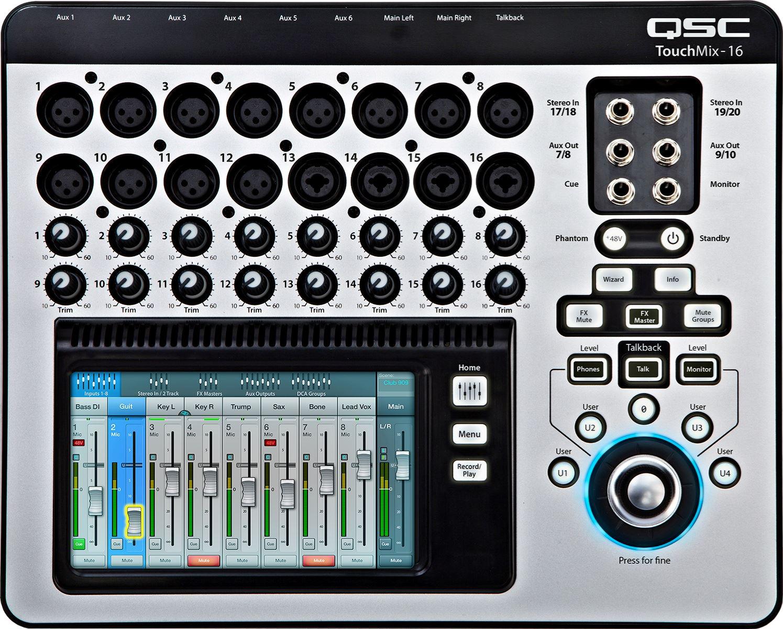 Image of   QSC TM16TouchMix digitalmixer