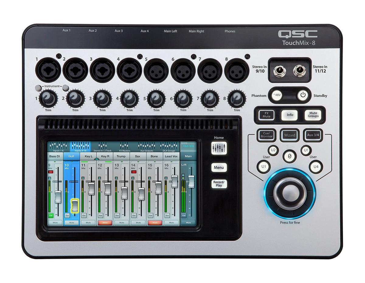 Image of   QSC TM8TouchMix digitalmixer