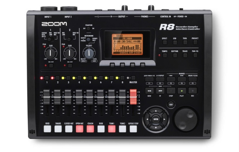 Zoom R8 harddisk-recorder/audiointerface
