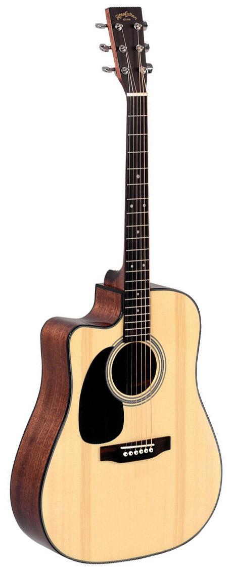 Billede af Sigma DMC-1STEL venstrehånds-western-guitar natur