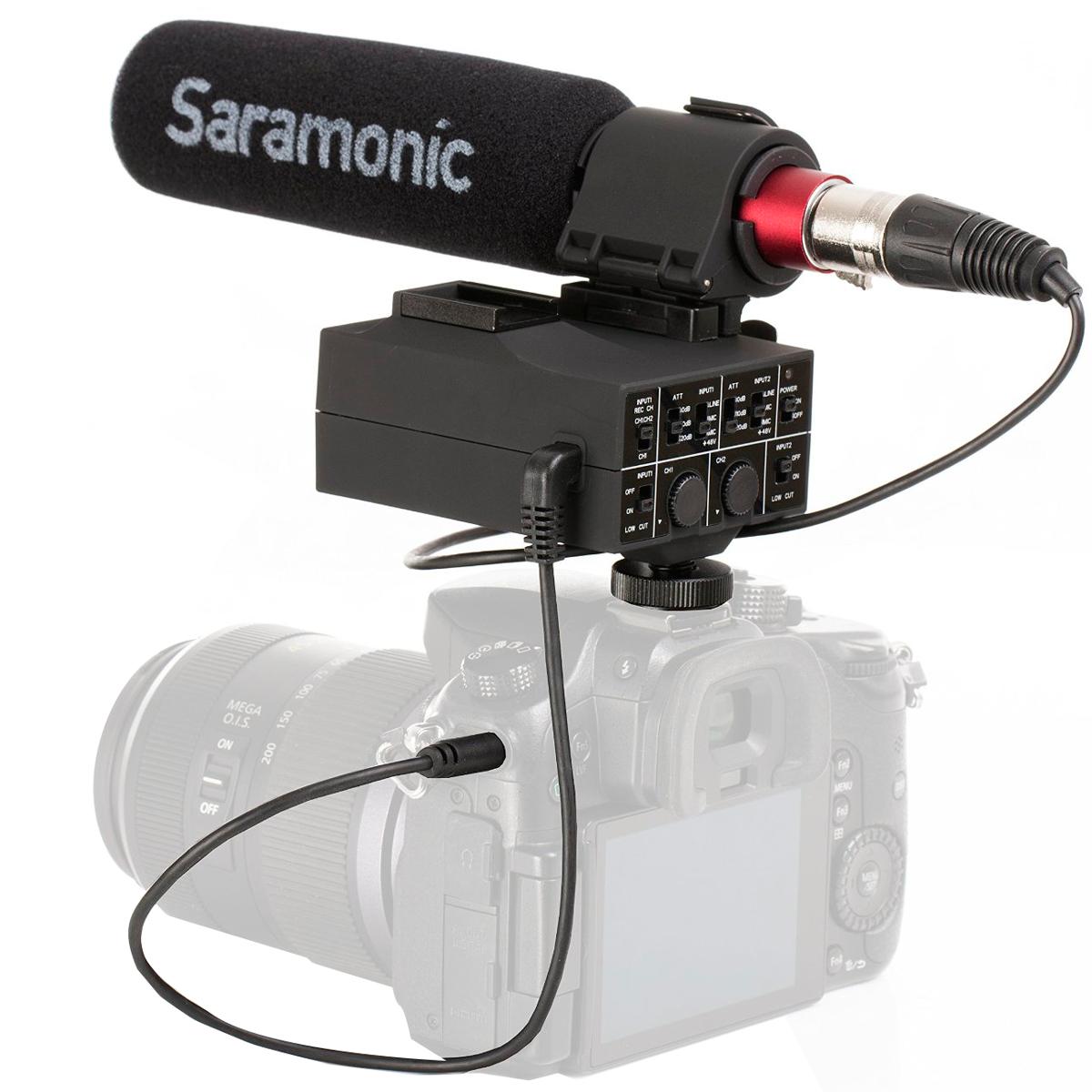 Billede af Saramonic MixMic kamera-mixerogmikrofon