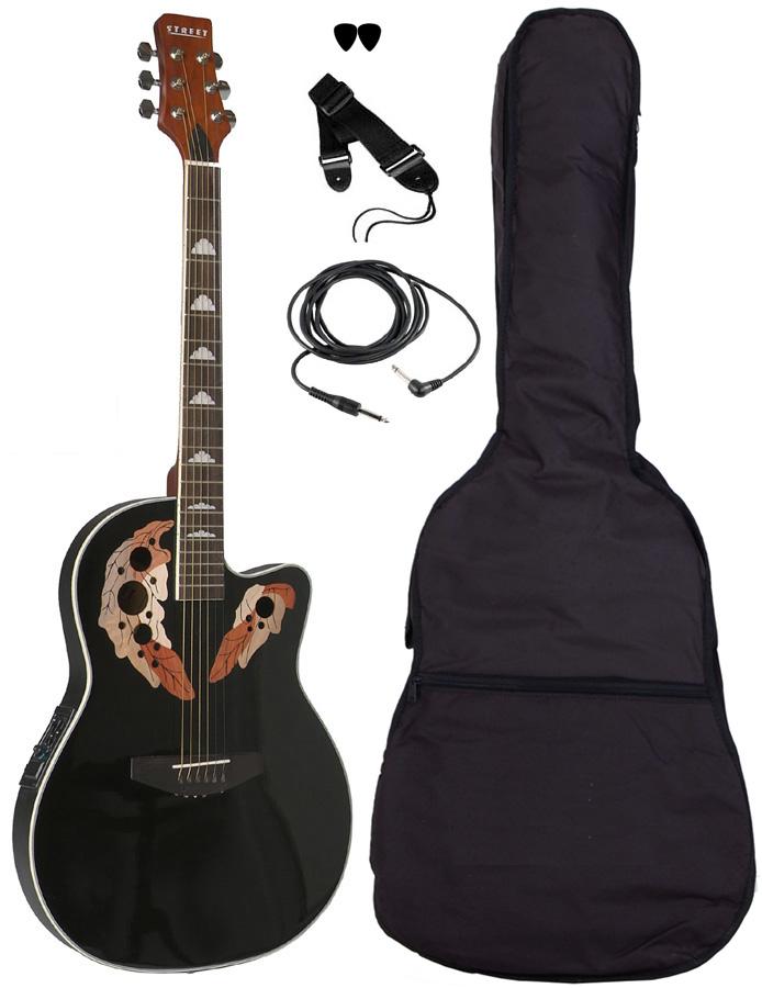 Billede af Street OVA-5-BK western-guitar sort