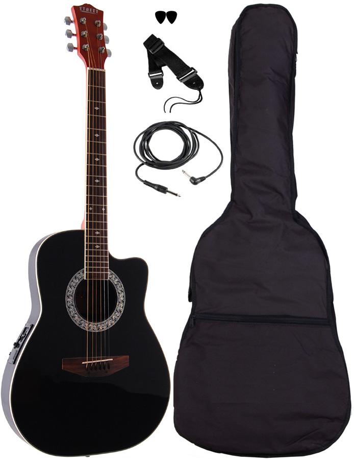 Billede af Street RND-4-BK western-guitar sort