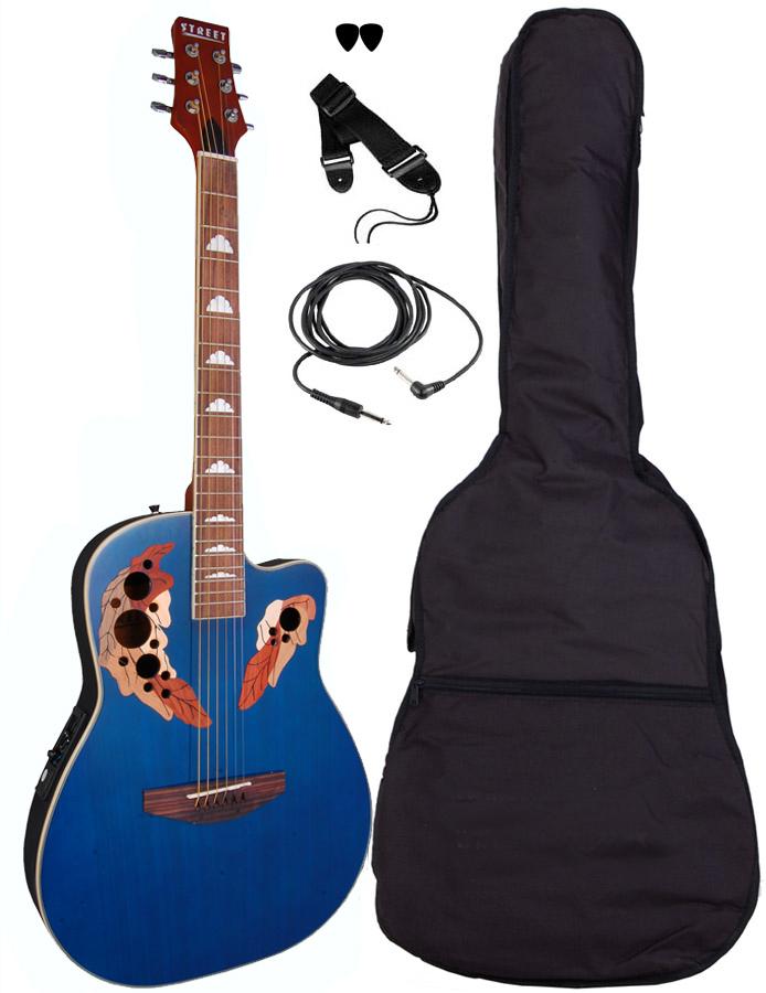 Billede af Street OVA-5-BL western-guitar blå