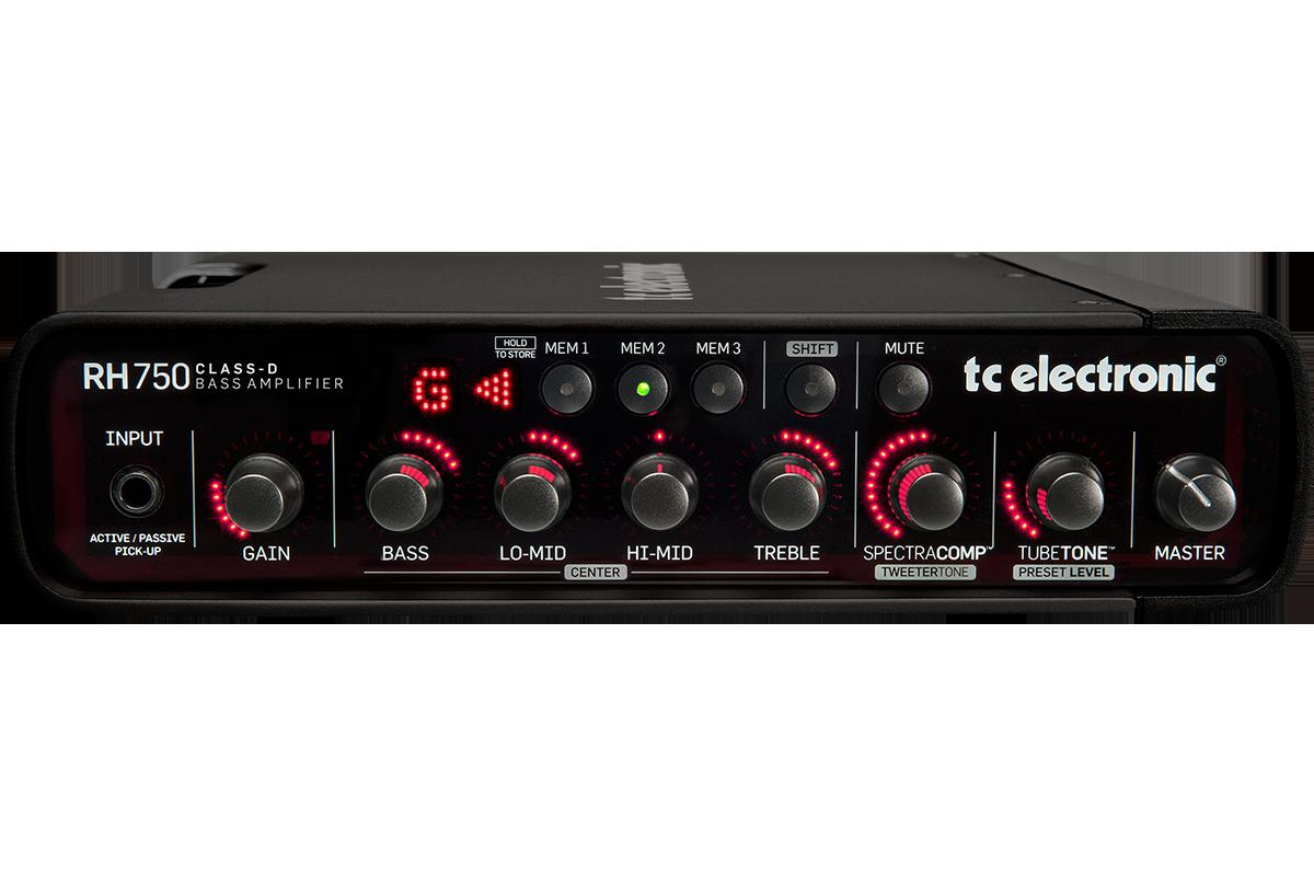 TCElectronic RH750 basforstærker-top