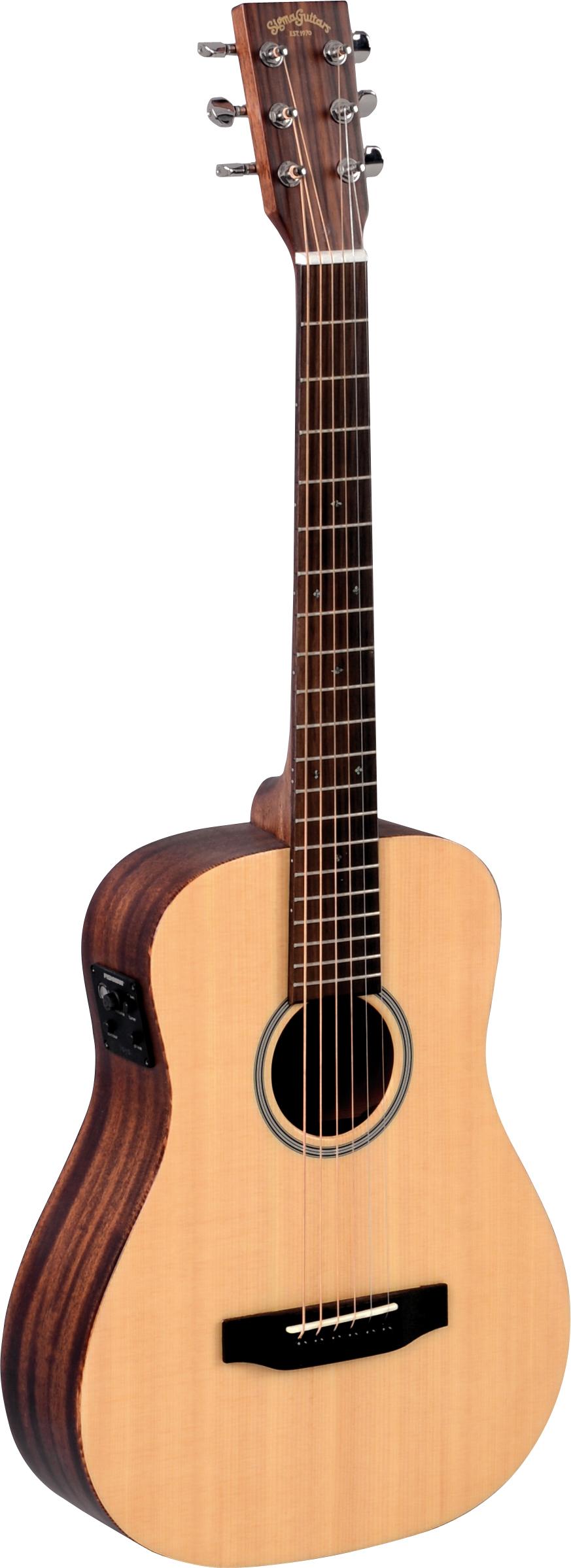 Billede af Sigma TM-12E western-guitar,rejse-model natur