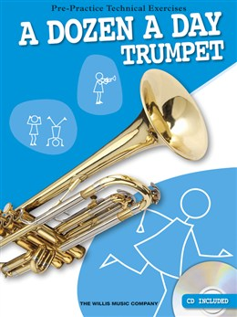 Image of   ADozenADay-Trumpet lærebog