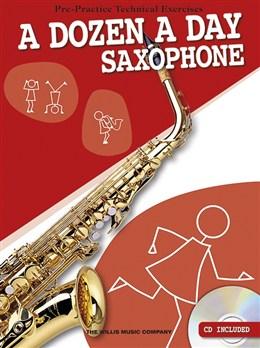 Image of ADozenADay-Saxophone lærebog
