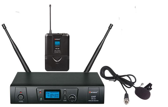 Billede af Karsect WR-351PT35-LT4A trådløstklemme-mikrofon-sæt