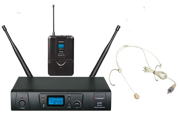 Billede af Karsect WR-351PT35-HT3A trådløsttyndtheadset-mikrofon-sæt