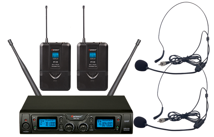 Karsect WR-352HT35-HT9A trådløst2xheadset-mikrofon-sæt