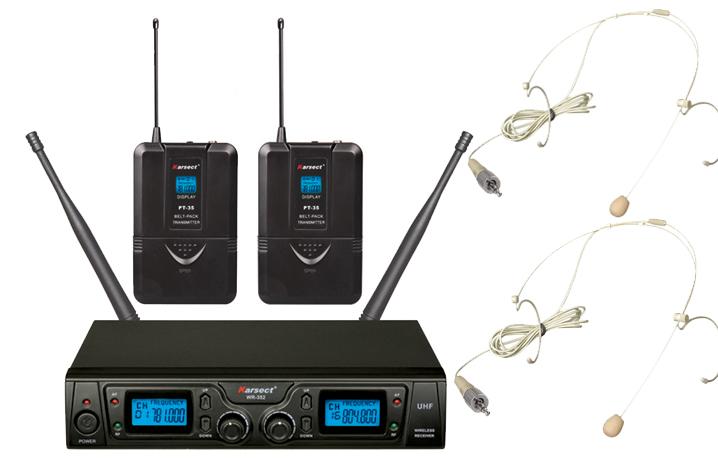 Karsect WR-352HT35-HT3A trådløst2xtyndeheadset-mikrofon-sæt