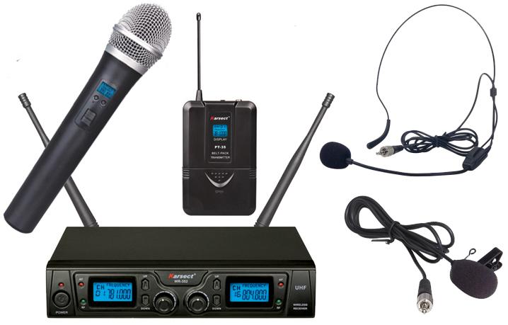 Billede af Karsect WR-352HT35-PT35 trådløstdobbeltmikrofon-sæt