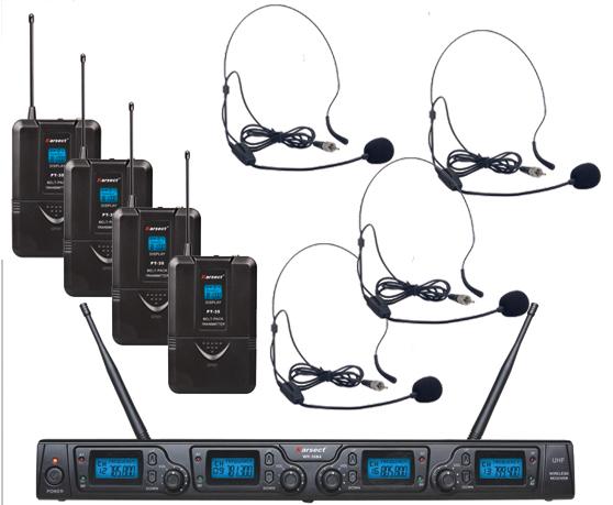Billede af Karsect WR-354PT35-HT9A trådløst4xheadset-mikrofon-sæt