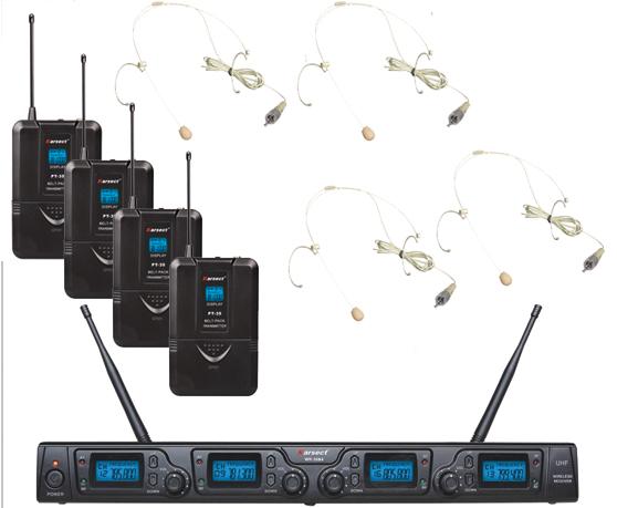 Karsect WR-354HT35-HT3A trådløst4xtyndeheadset-mikrofon-sæt