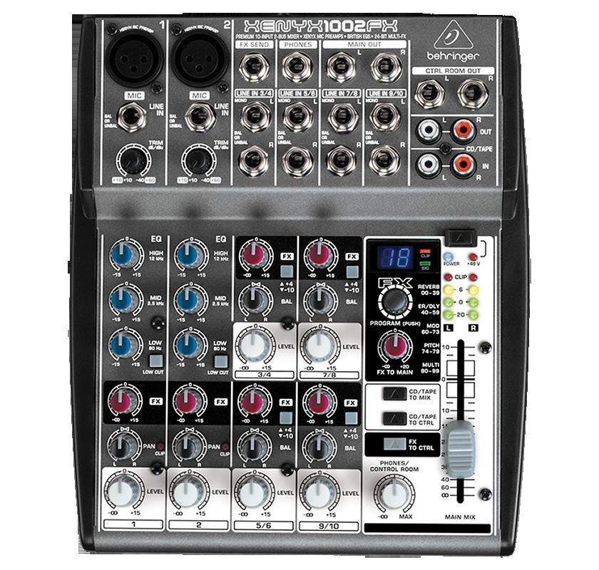 Billede af Behringer Xenyx1002FX FX-mixer