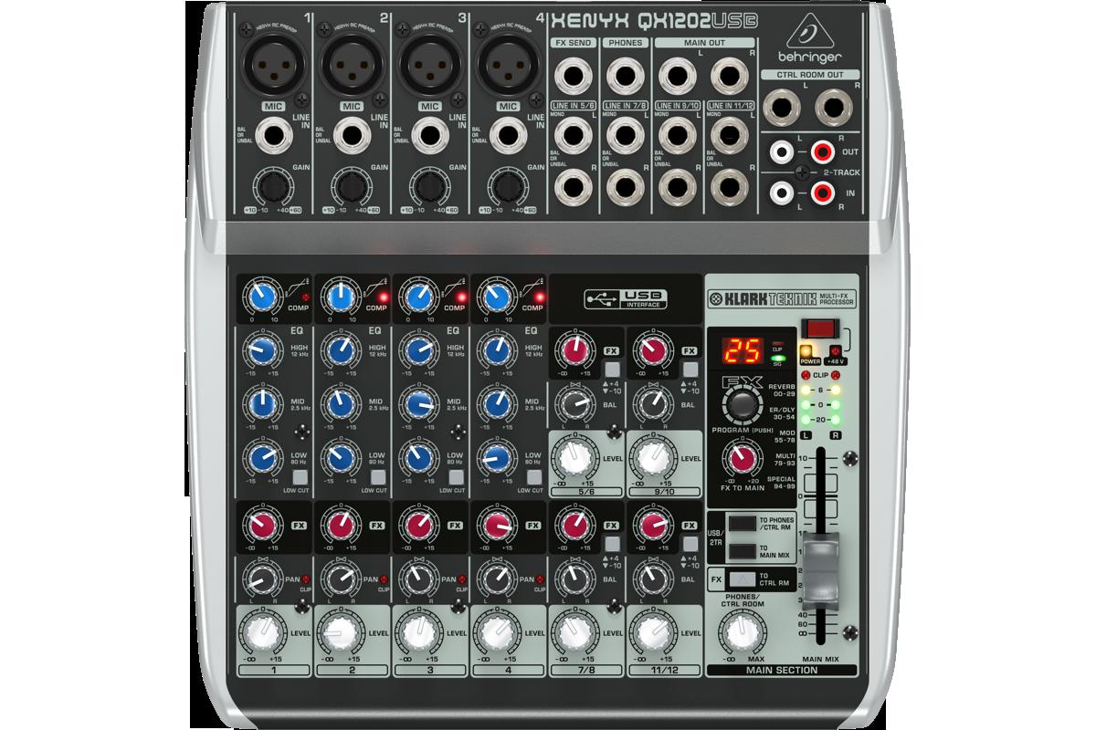Billede af Behringer XenyxQX1202USB mixer