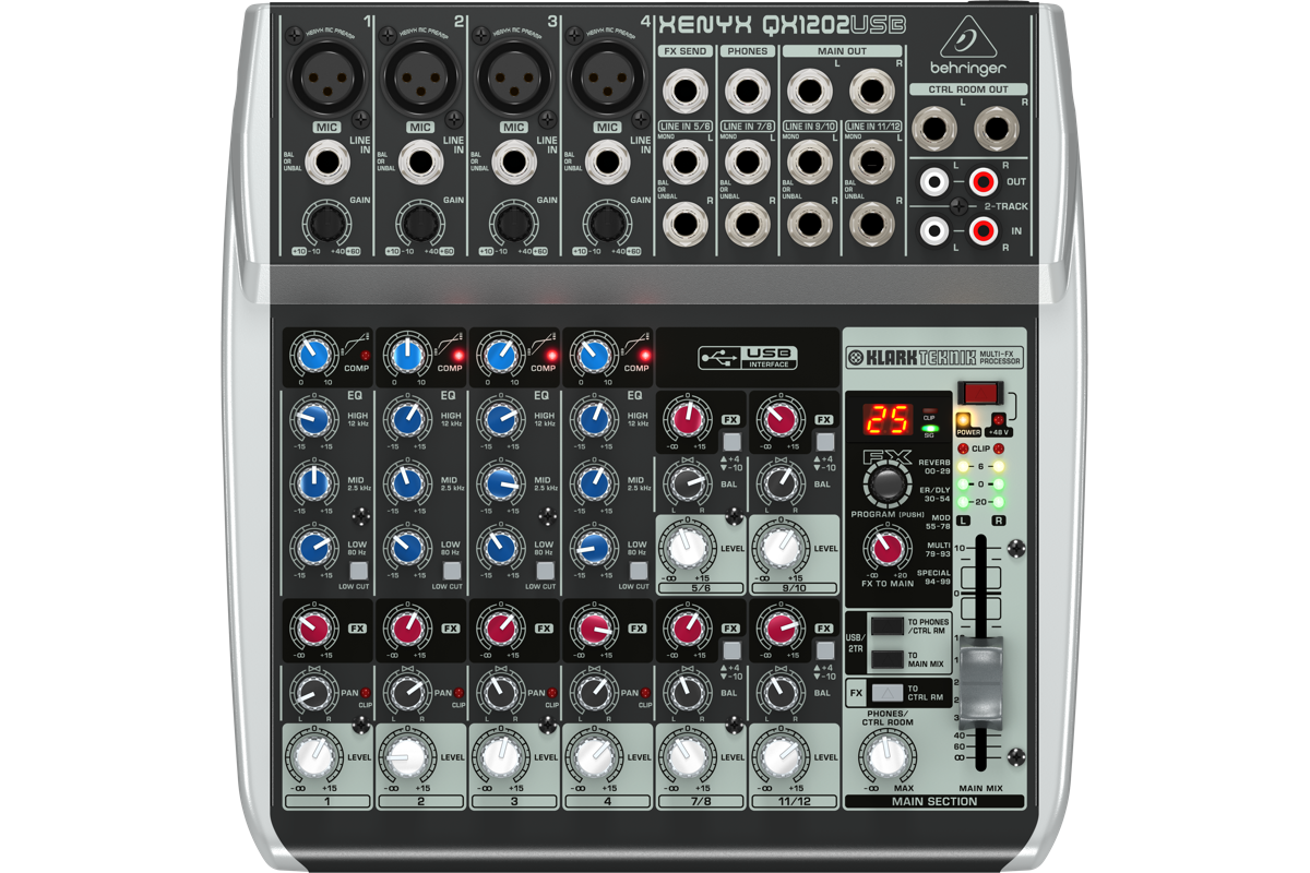 Image of   Behringer XenyxQX1202USB mixer