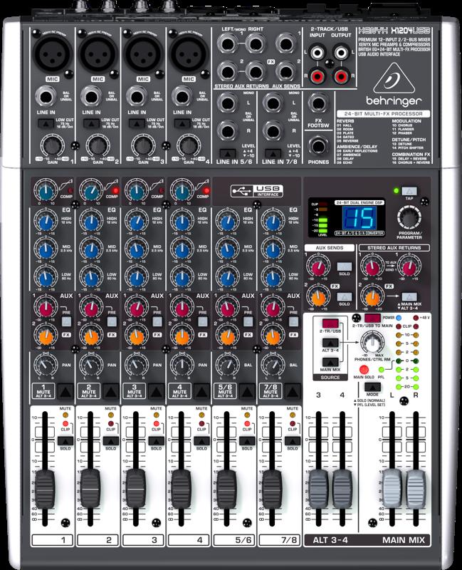 Billede af Behringer XenyxX1204USB mixer