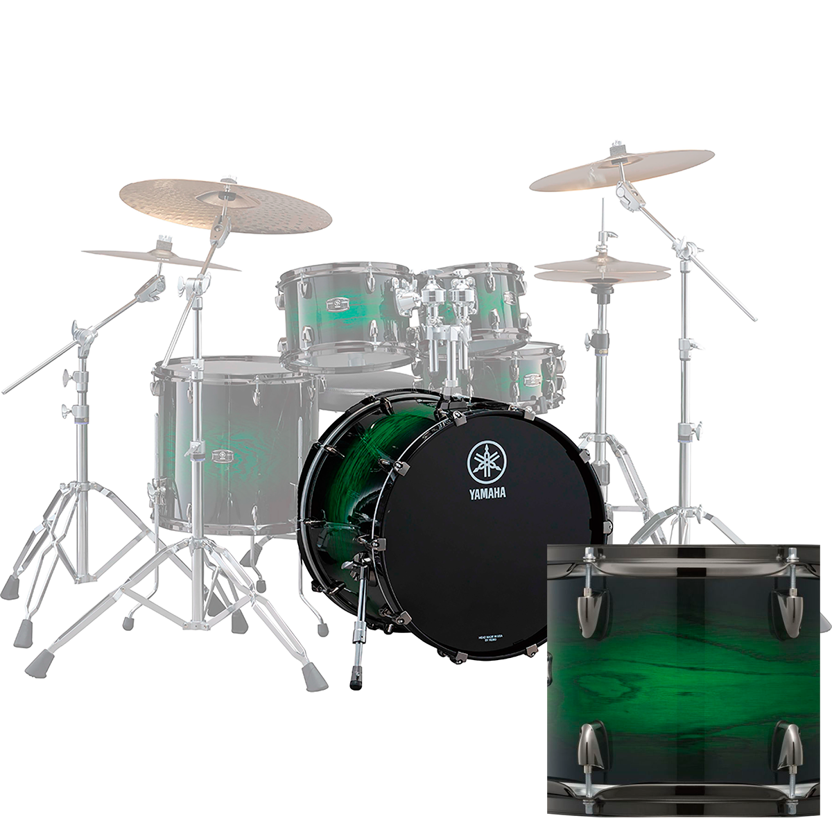 Yamaha LNB1814EWSLiveCustom stortromme18x14 emeraldshadowsunburst