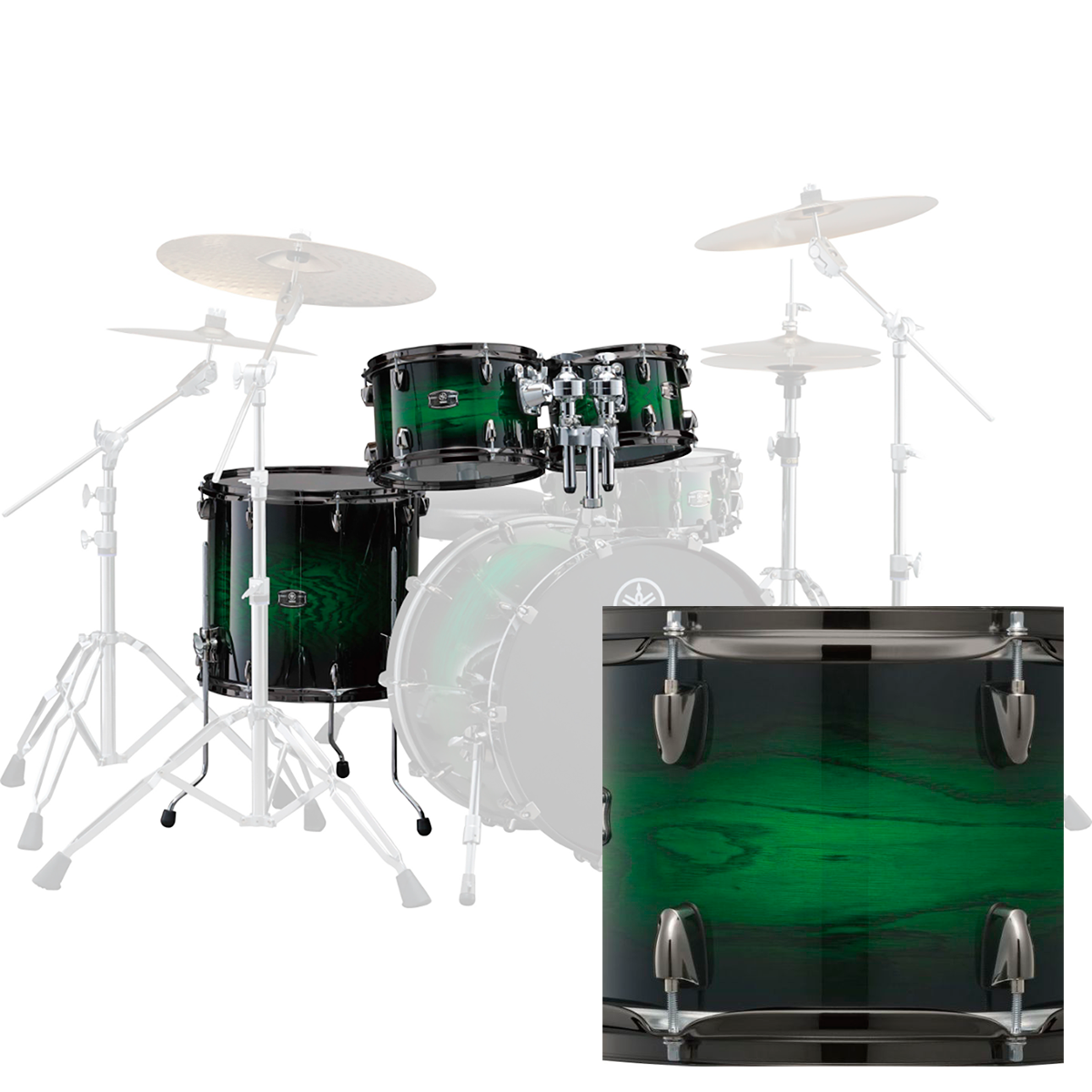 Yamaha LNP4F3EWSLiveCustom tam-pakkeløsning emeraldshadowsunburst