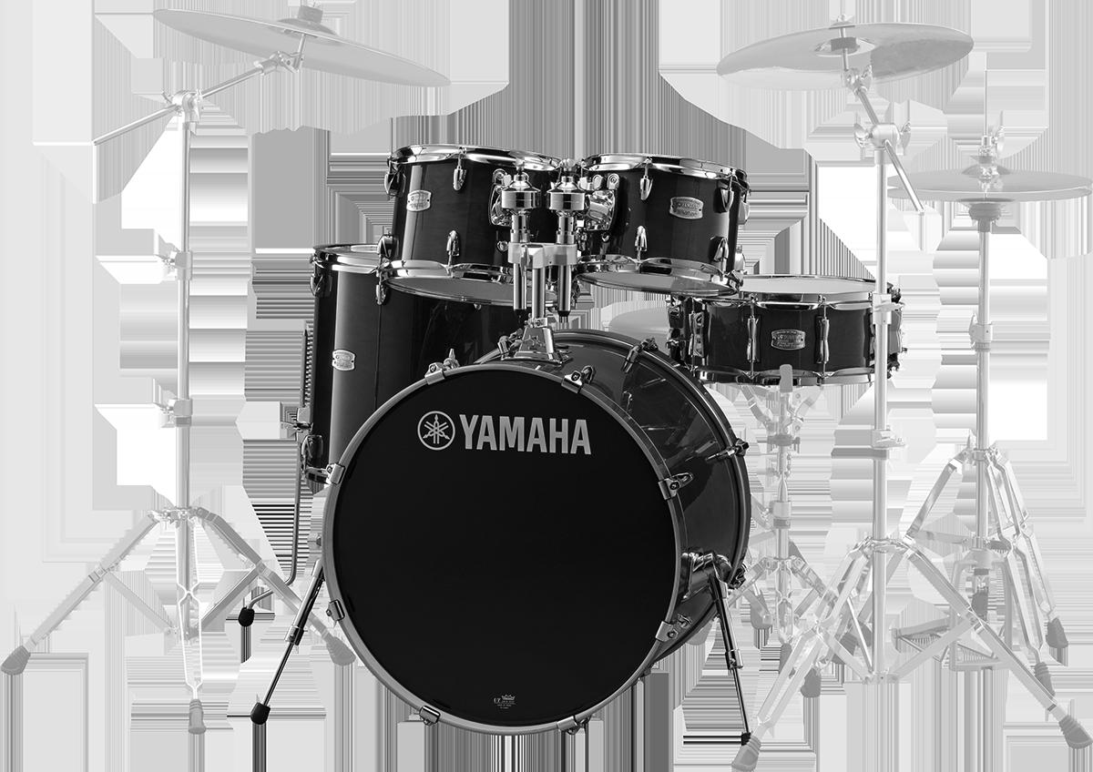 Yamaha SBP0F5RBLStageCustomBirch trommesæt ravenblack