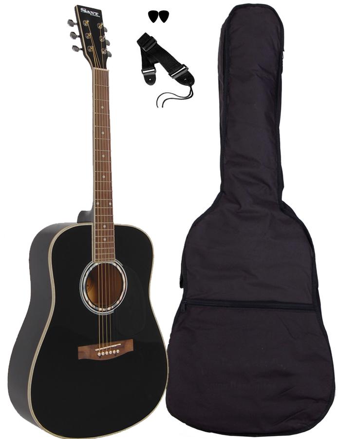 Billede af SantGuitars AC-80-BK western-guitar sort