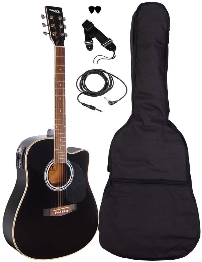 Billede af SantGuitars AC-82EQ-BK western-guitar sort