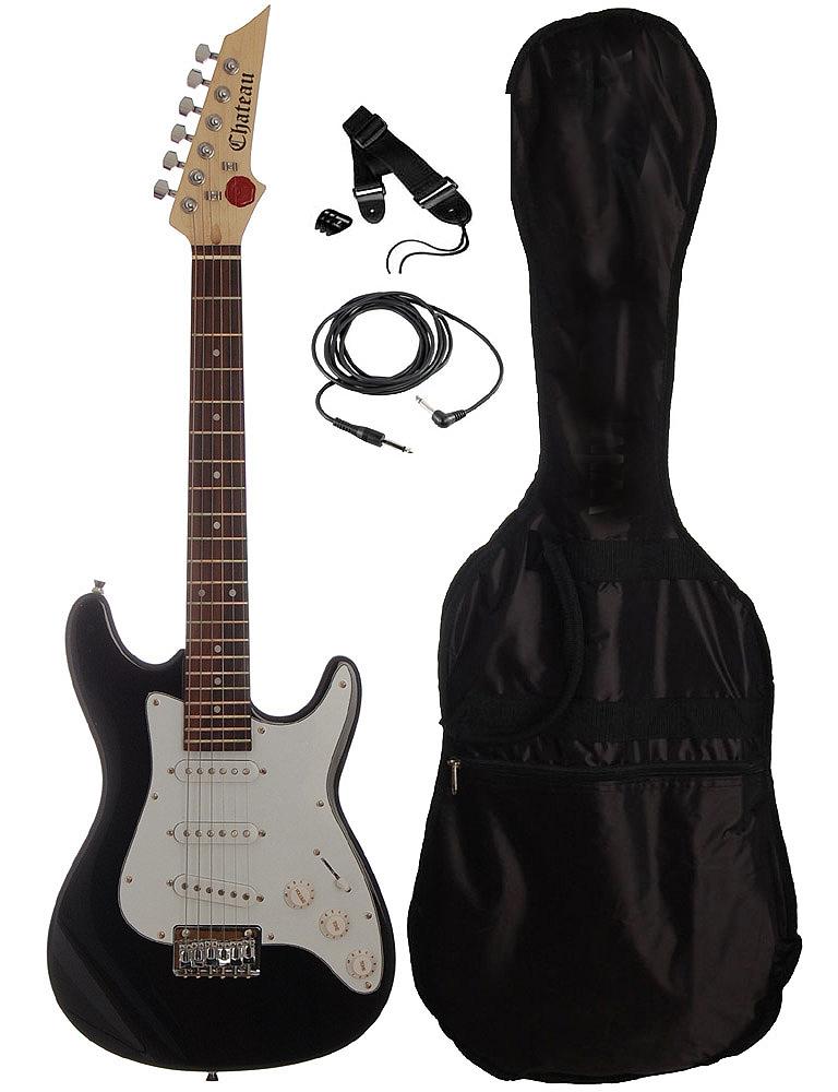 Billede af Chateau C08-ST134-BK børne-el-guitar sort