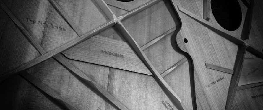 Guitarens bracing